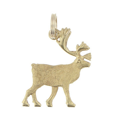 Vintage Moose Charm in 10 Karat Yellow Gold