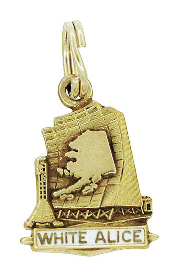 White Alice Charm in 10 Karat Gold