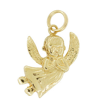Cherub Pendant Charm in 14 Karat Yellow Gold