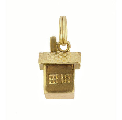 Vintage Cabin Charm in 14 Karat Yellow Gold - Item: C613 - Image: 2