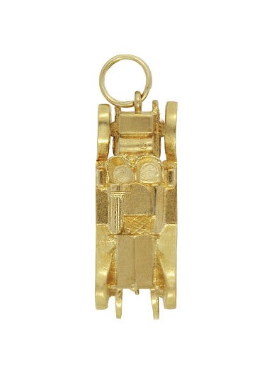 Moveable Antique Roadster Car Charm in 14 Karat Yellow Gold - Item: C619 - Image: 1