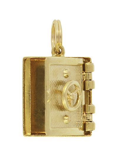Vintage Safe Vault Moveable Charm in 14 Karat Yellow Gold - Item: C620 - Image: 1