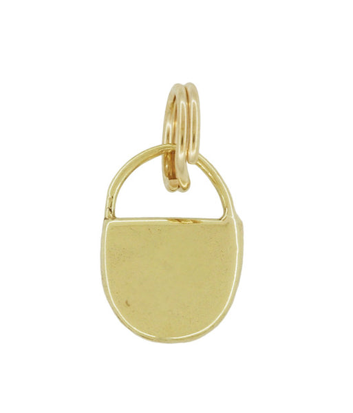 Vintage Small Lock Charm in 14 Karat Yellow Gold - Item: C622 - Image: 1
