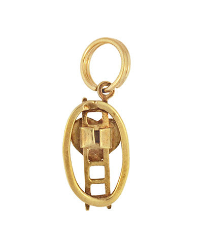 Vintage Ladder To The Heart Charm in 14 Karat Yellow Gold - Item: C623 - Image: 1