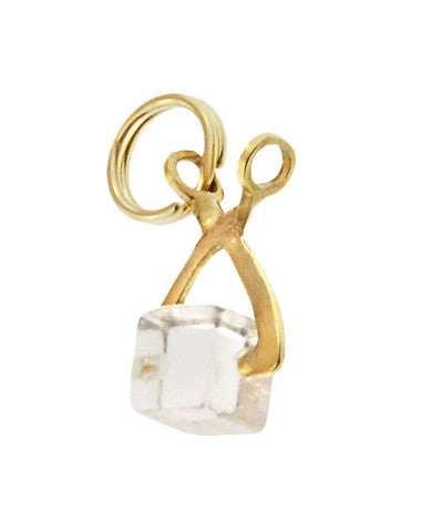 Movable Ice Tongs Charm in 14 Karat Gold
