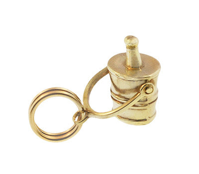 Vintage Moveable Champagne Bucket Charm in 14 Karat Yellow Gold - Item: C627 - Image: 1