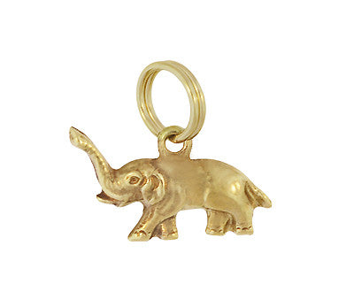 Small Elephant Charm in 14 Karat Yellow Gold