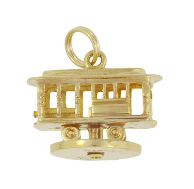 Moveable Vintage Tiffany and Co. Trolley Car Pendant Charm in 14 Karat Yellow Gold - Item: C644 - Image: 1