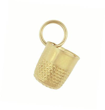 Little Vintage Thimble Charm in 14 Karat Yellow Gold