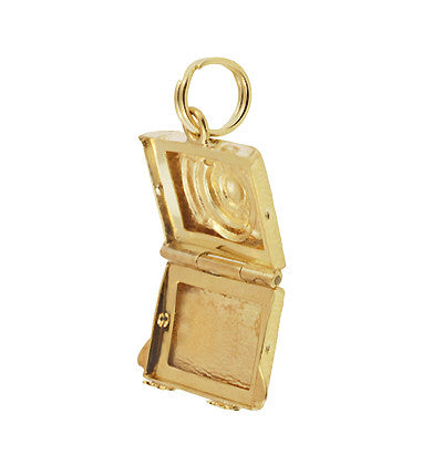 Vintage Moveable Opening Camera Locket Charm in 14 Karat Yellow Gold - Item: C657 - Image: 1
