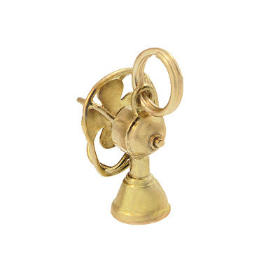 Moveable Vintage Electric Fan Charm in 14 Karat Yellow Gold - Item: C662 - Image: 1