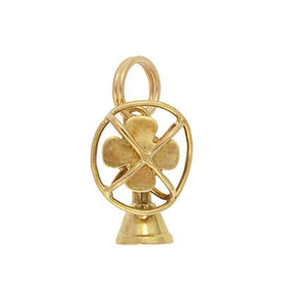 Moveable Vintage Electric Fan Charm in 14 Karat Yellow Gold