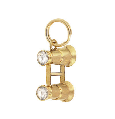 Vintage Binoculars Charm in 14K Yellow Gold