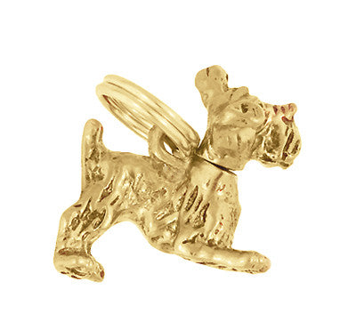 Moveable Schnauzer Charm in 14 Karat Yellow Gold - Item: C684 - Image: 1