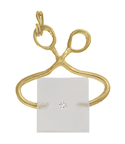 Movable Ice Tongs and Ice Block Charm in 14 Karat Gold