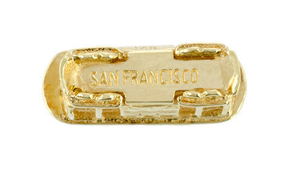 San Francisco Cable Car Vintage Charm in 14K Gold - Item: C722 - Image: 2