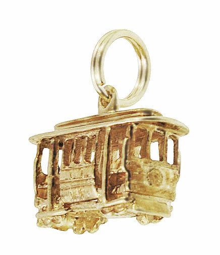 San Francisco Cable Car Vintage Charm in 14K Gold - Item: C722 - Image: 1