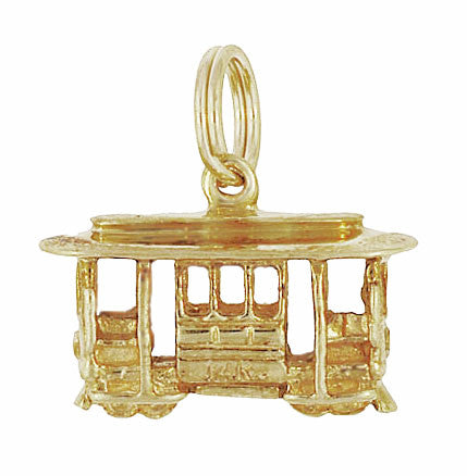 San Francisco Cable Car Vintage Charm in 14K Gold