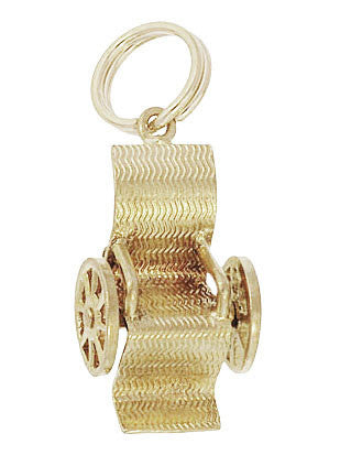 Vintage Wheelchair Charm in 10 Karat Gold