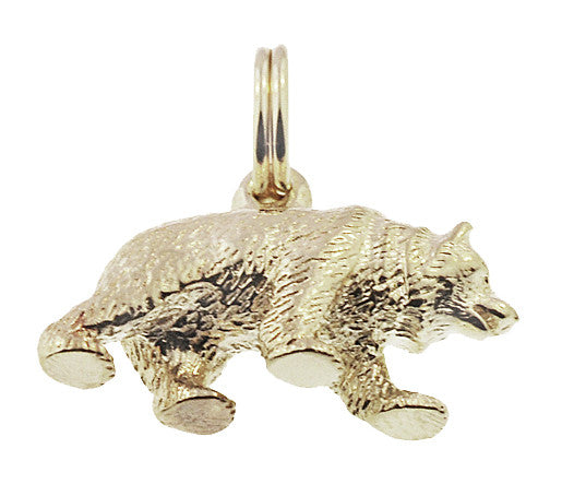 Grizzly Bear Charm in 14K Gold - Item: C734 - Image: 1