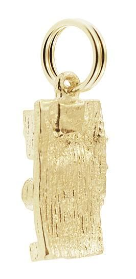 Antique Wall Telephone Charm in 14 Karat Gold - Item: C746 - Image: 2