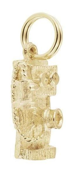 Antique Wall Telephone Charm in 14 Karat Gold - Item: C746 - Image: 1