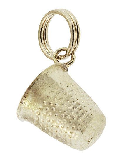 Thimble Charm Pendant in 14 Karat Yellow Gold - Item: C747 - Image: 1