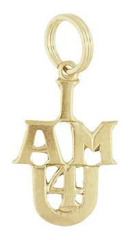 Vintage 1960's I AM 4 U Charm in 10K Gold