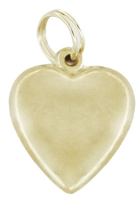 Heart Love Meter Charm with Movable YES - MAYBE - NO Spinning Arrow in 10K Yellow Gold - Item: C749 - Image: 1