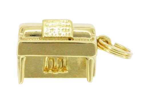 Upright Piano Charm in 14 Karat Gold