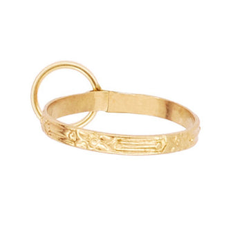 Miniature Ring Charm in 10K Gold