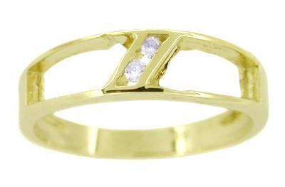Simple Channel Set Diamond Ring in 14 Karat Yellow Gold
