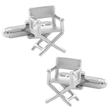 Director's Chair Cufflinks in Sterling Silver