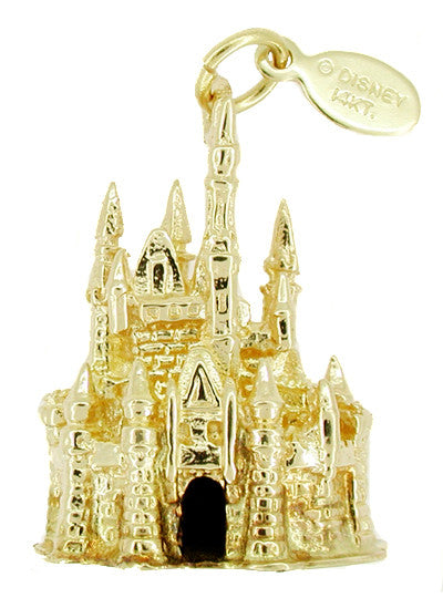 Disney Cinderella Castle Pendant In 14 Karat Gold