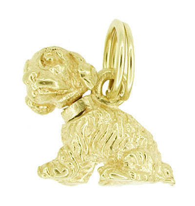 Dog Charm with Movable Head in 14 Karat Gold