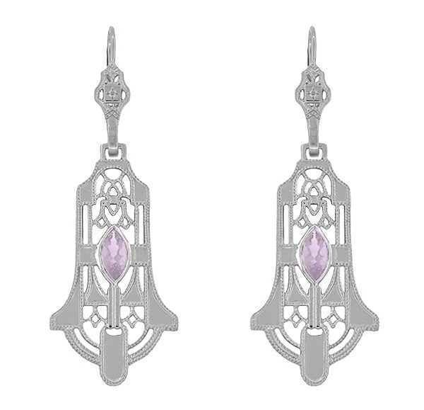 super product de nova france satya earrings amethyst stud rose center
