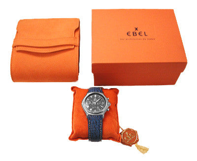 Ebel 1911 Automatic Chronograph with Leather Strap - Item: W105 - Image: 1