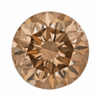 1.02 Carat Loose Fancy Brown Caramel Color Diamond | Natural Round Brilliant SI1 Clarity