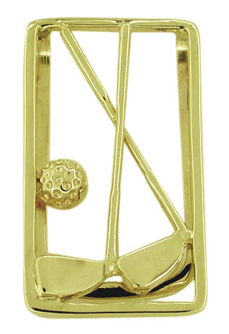 Golf Club Money Clip in 14 Karat Gold