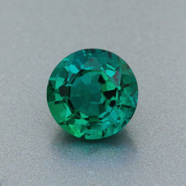Stunning 6mm Round Jade Green Lab Created Emerald | 0.79 Carat