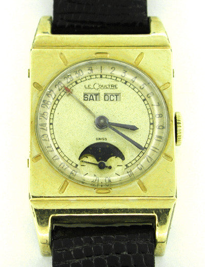Le Coultre Rectangle Moonphase Watch