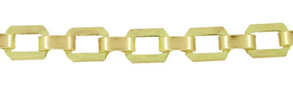 Vintage Flat Link Bracelet in 10 Karat Yellow Gold
