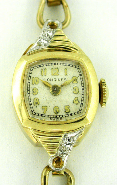 Ladies Longines Diamond Wristwatch in 14 Karat Gold