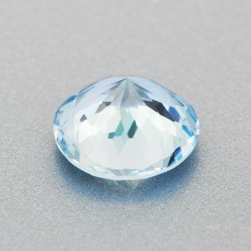 0.67 Carat Loose Round Natural Aqumarine Gemstone | Gorgeous Celeste Blue | 6mm - Item: AQ003245 - Image: 1