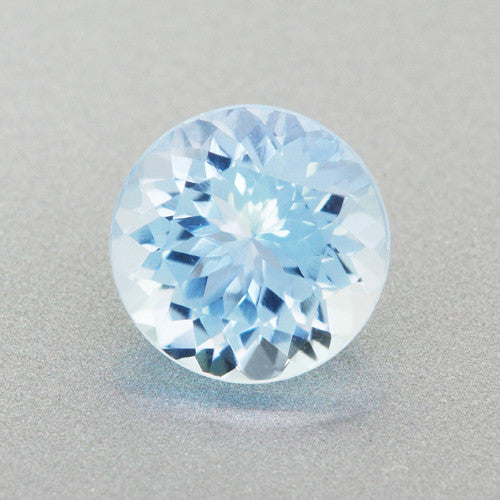 Fine 6mm Natural Loose Powder Blue Round Aquamarine Stone