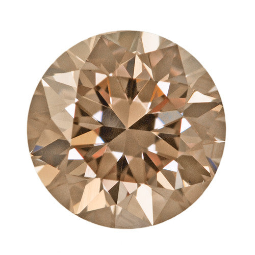 0.54 Carat Natural Caramel Color Loose Fancy Brown Diamond | Round Brilliant VS1 Clarity