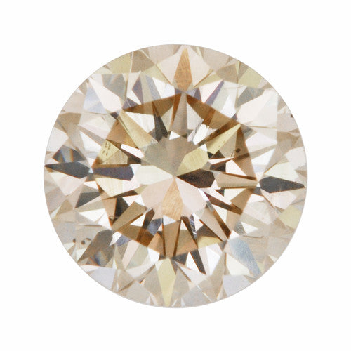 0.39 Carat Loose Champagne Diamond | Natural Round Brilliant VS2 Clarity