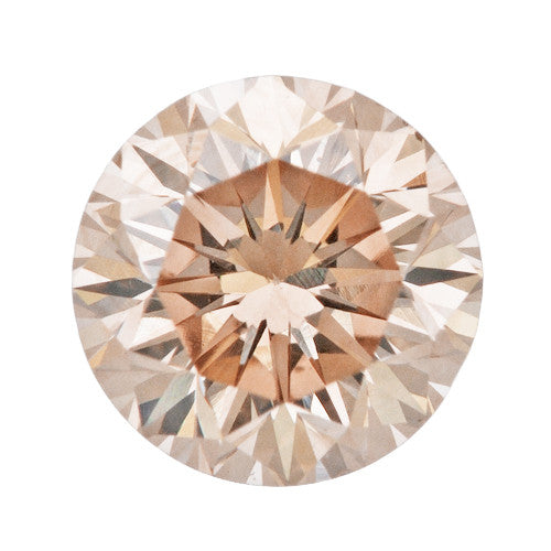 0.38 Carat Natural Color Loose Pink Champagne Diamond | Round Brilliant VS2 Clarity