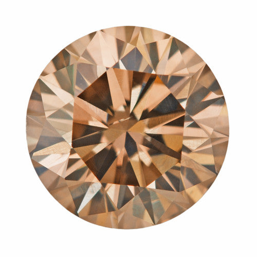 1.01 Carat Loose Natural Fancy Brown Cinnamon Color Diamond | Round Brilliant SI1 Clarity
