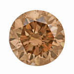 1.01 Carat Cognac Hue Natural Fancy Loose Brown Diamond | Round Brilliant VS2 Clarity